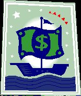 Picture of a money ship